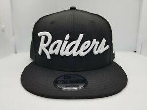 NEW ERA 9FIFTY SNAPBACK HAT. NFL.  OAKLAND RAIDERS.  BLACK.
