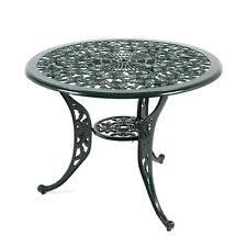Outdoor Garden Furniture Ornate Aluminium Round Garden Patio Lattice Table Metal