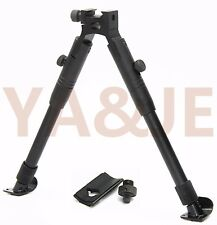 """9""""-11''Tactical Rifle Bipod Picatinny Rail Foldable Steel Feet with Adapter"""