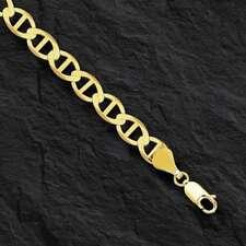 """14kt Solid Yellow Gold Mariner Link Bracelet 3.2 mm 7"""""""