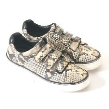 Size 5 (36) - MASSIMO DUTTI Women's Snakeskin Leather Sneakers