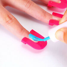 10 Sizes Nail Manicure Sticker Cover Tips UV Gel Apply Polish Protector 26Pcs
