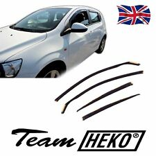 DCE10535 CHEVROLET AVEO 5 DOOR 2011-up WIND DEFLECTORS  4pc HEKO TINTED