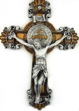 St. Saint Benedict Crucifix 2 Tone Wall Cross 10 Inch Religious Gift