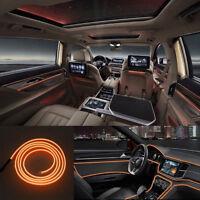 2M 12V Car Vehicle Ambient Interior Orange Cold Light Strip Atmosphere Neon-Lamp