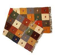 Thanks Given Gift 2x6' ft Rug Runner Indian Vintage Dhurrie Carpet Boho Sham Mat