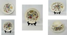 Vintage Vernon Kilns May Flower Hand Painted Dinnerware. Made in USA