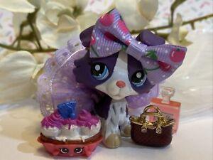 Authentic Littlest Pet Shop Lps 1676 Purple White Collie Euro Advent Calender