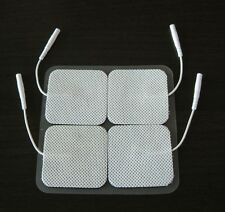 40 Electrode Pads EMS for Tens Massager 7000, 3000- Units 2x2 Inch White Cloth