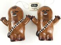 2 NEW HALLMARK Star Wars Kawaii Art Collection Ornament Chewbacca Christmas Cute