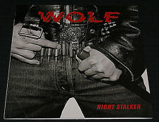 "WOLF ""NIGHT STALKER"" RARE 7 VINYL RECORD SINGLE OUT OF PRINT IMPORT SLAYER COVER"