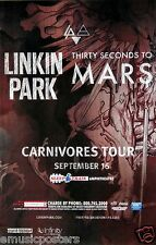 """LINKIN PARK / 30 SECONDS TO MARS """"CARNIVORES TOUR"""" 2014 SAN DIEGO CONCERT POSTER"""