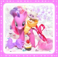 "❤️My Little Pony 3"" Brushable Cupcake Raccoon Pet Saddle Original 2011 G4❤️"