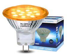 LED MR11 Amber Light Bulb 12v 35mm Replacement For Low Voltage Halogen Spot NEW
