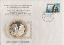 Netherlands 1976 First Day Cover Limited Edition Sterling Silver Medal Proof