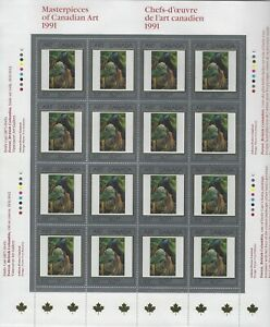 CANADA - #1310 - 50c MASTERPIECES OF CANADIAN ART FULL SHEET EMILY CARR FOREST