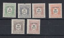 Cape Verde, Cabo Verde 1904 postage dues PART SET MH