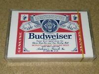Vintage cassette Budweiser TYPE1 Audio Blank tape new sealed nice *Ultra rare**