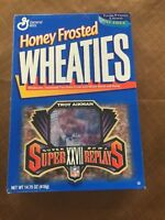 Unopened Honey Frosted Wheaties Troy Aikman Super Bowl XXVII Cereal Box