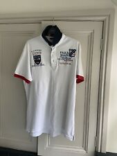 Genuine Paul and Shark Polo Shirt Mens Size Extra large White