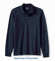 Lands End Mens Long Sleeve Mesh Polo Shirt Size Medium - Never Worn - NWT