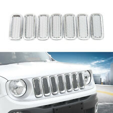 Chrome Mesh Grill Mesh Grill Insert for Jeep Renegade Exterior Accessories Parts