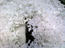 VTG 200 GRAM VENETIAN HEX BUGLE BEAD WHITE FROST #4 5mm #061916e