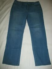 St Johns Bay Blue Jeans Sz 16 Straight Leg Light Blue Denim Womens