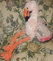 "Pink Flamingo Disneys Animal Kingdom 21"" Tall Stuffed Plush Animal TOY BIRD"
