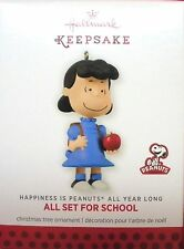 Hallmark 2013 Happiness is Peanuts All Year Long ALL SET FOR SCHOOL Lucy MIB  #2