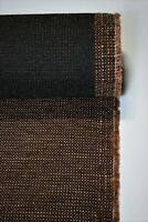 """Vintage Chocolate Brown Tweed Automotive Seat Cover Fabric Upholstery Auto 55""""W"""