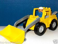 LEGO DUPLO~GROSSER~BAGGER~MIT~FRONTSCHAUFEL~BIG FRONT LOADER~BAUSTELLE