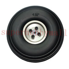 "1 pair  4.5""/114.3mm PU wheel with Aluminum Hub with Screw For RC Airplane/plane"