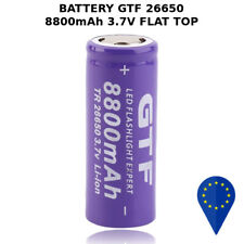 BATTERY GTF TR 26650 8800mAh 20A 3.7v BATTERIA FLAT TOP LITHIUM RECHARGEABLE Lii