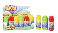 Double Bubble Bottle Tub Wand Kids Childrens Summer Beach Party Bag Filler Toys