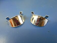 PAIR OF MINI BULLET LIGHTS CHROME VISORS HOOD HARLEY DAVIDSON & CUSTOM CHOPPERS
