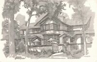 Postcard Yesteryear Frank Lloyd Wright Home Kankakee Illinois