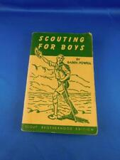 SCOUTING FOR BOYS BOOK BROTHERHOOD EDITION + WORD TO PARENTS ON CUBBING FLYER