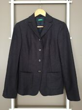 Lovely UNITED COLORS OF BENETTON Checkered Wool Blend Blazer Jacket Sz 38 S EUC