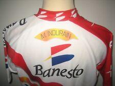 Banesto WORN by INDURAIN Spain jersey shirt cycling maillot camiseta size XL