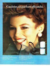 PUBLICITE ADVERTISING 0217  1982  Molyneux  parfum Gauloise