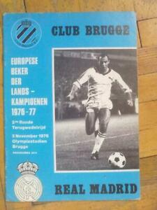Programme Brugge Belgium - Real Madrid Spain 1976-1977 football soccer