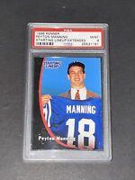 1998 Kenner Starting Lineup PSA 9 RC Peyton Manning Rookie Rare Low POP HOF !!!!