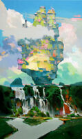 "NEW VYTAUTAS LAISONAS ORIGINAL CANVAS ""After Rain"" Surrealist  OIL PAINTING"