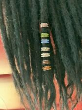 2 rustic teal dreadlock beads beads for medium to thick dreads