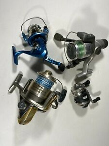 Mixed Fishing Reel Lot Of 4 Fly Spinning Bait For Parts Or Repair