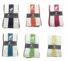 Lot of 6 Pacific Polo Club 100% Cotton 30X60 Cabana Pool Beach Towel