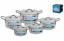 SQ Professional 5 Pieces Heavy Duty Aluminium Cooking Pots (18-26)cm -RRP £79.99