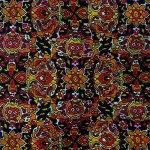 Vintage Black Orange Foulard DIOR Silk Tie