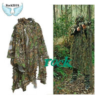 3D Breathable Jungle Camo Ghillie Sniper Hunting Poncho Suit/Cloak/Manteau Mesh